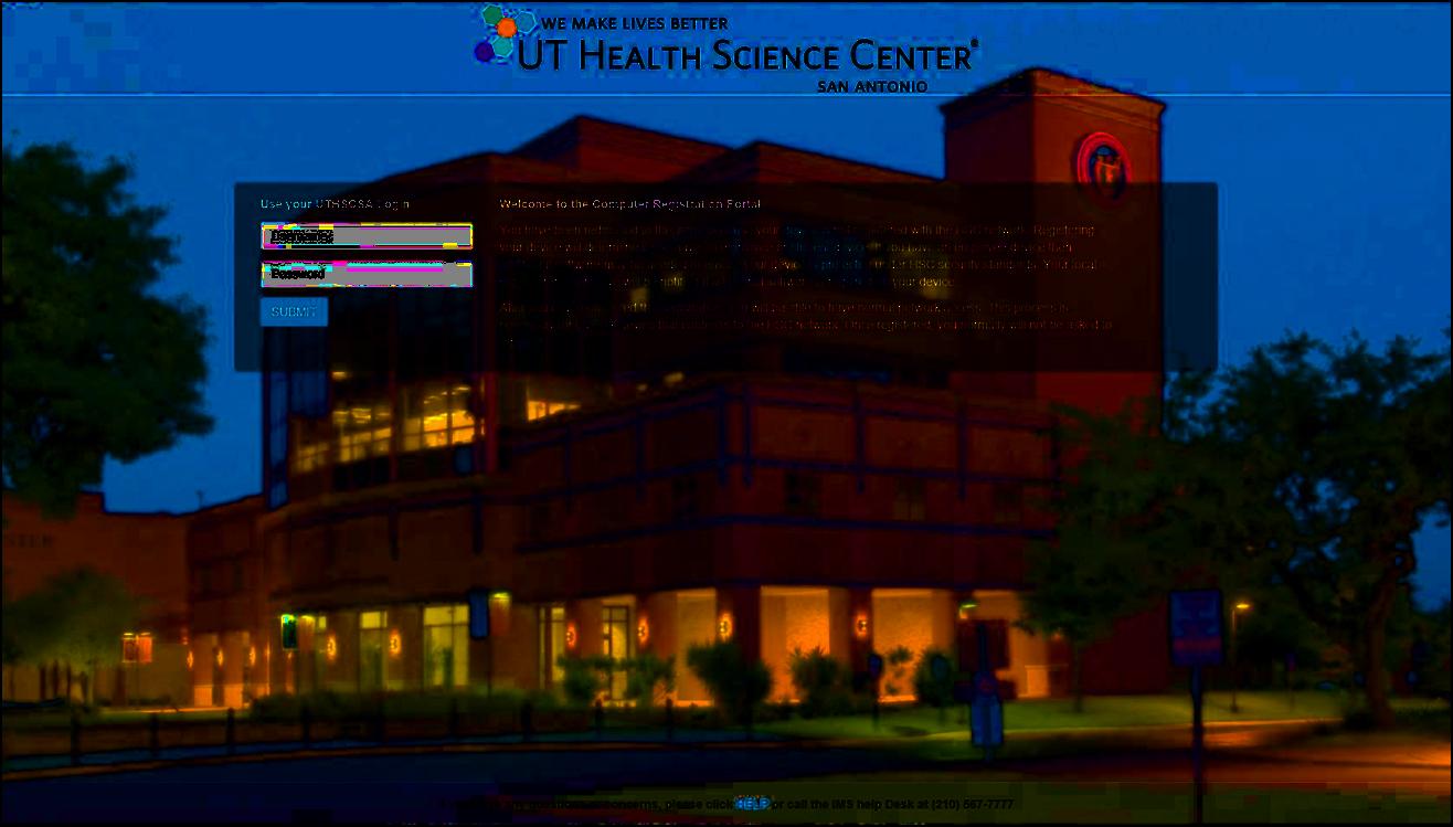 Computer Registration | UT Health San Antonio Information